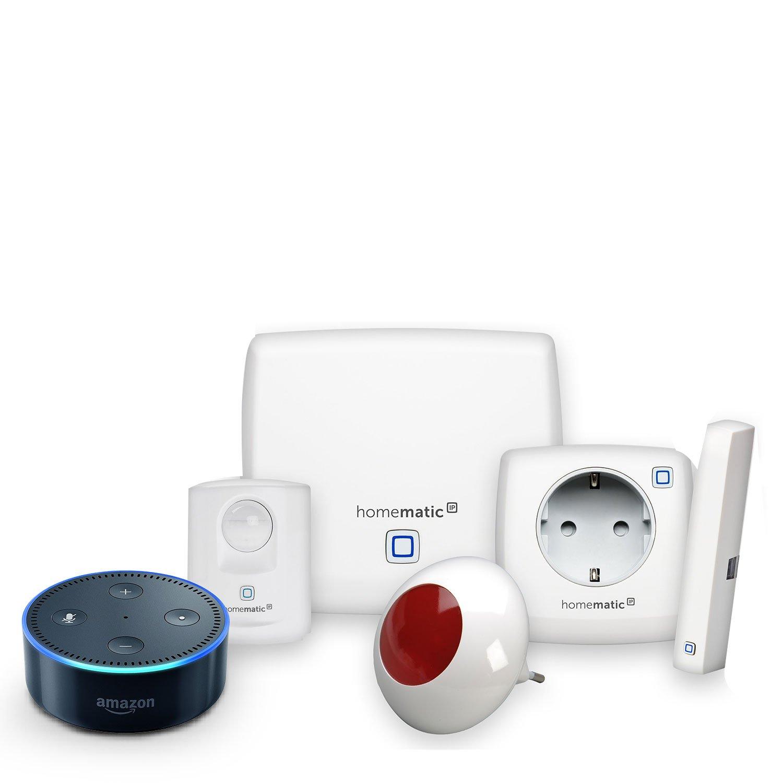 Homematic IP Starter Set Sicherheit plus + Amazon Echo Dot (2. Generation), Schwarz