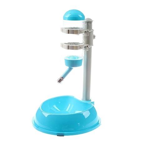 TOOGOO Dispensador de agua potable Alimentador de Tazon de alimentos plato plato Botella para Perro mascota