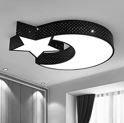 Amazon.com: Creative Stars Moon Ceiling Light Bedroom 36 W ...