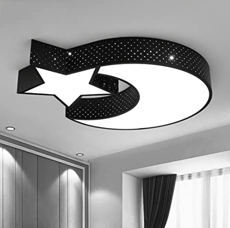 Amazon creative stars moon ceiling light bedroom 36 w led white creative stars moon ceiling light bedroom 36 w led white light ceiling light men women aloadofball