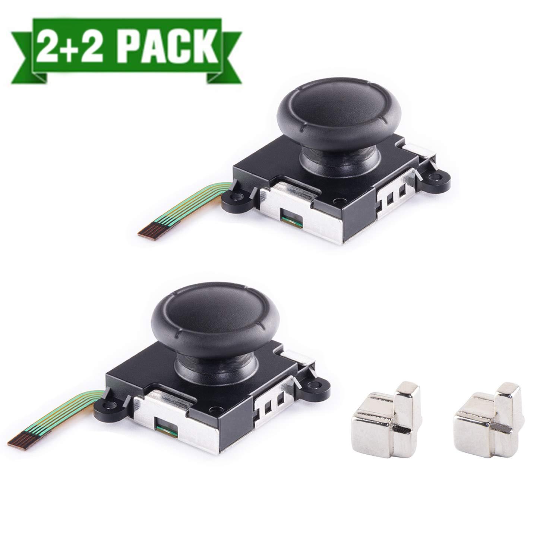 3D Replacement Analog Joystick Thumb Stick for Nintendo Switch Joy Con+ 2 Pcs Metal Lock Buckles for Nintendo Switch Controller by TAESSV