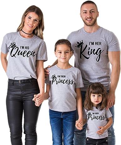 Mom Dad Kid Family Matching Sweatshirts Long Sleeve Letters Print Black Top Shirts