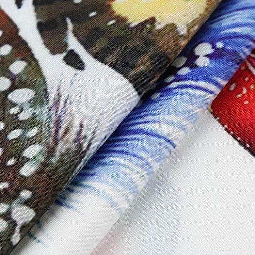 maniche Estate Eleganti corto Abito Spiaggia Abito Partito Vestiti pacco spiaggia Vintage stampato Senza Donne L Lungo Vestito Mini Cocktail sulla Boho Floreale Estivo Donna Odejoy CwX6txqx