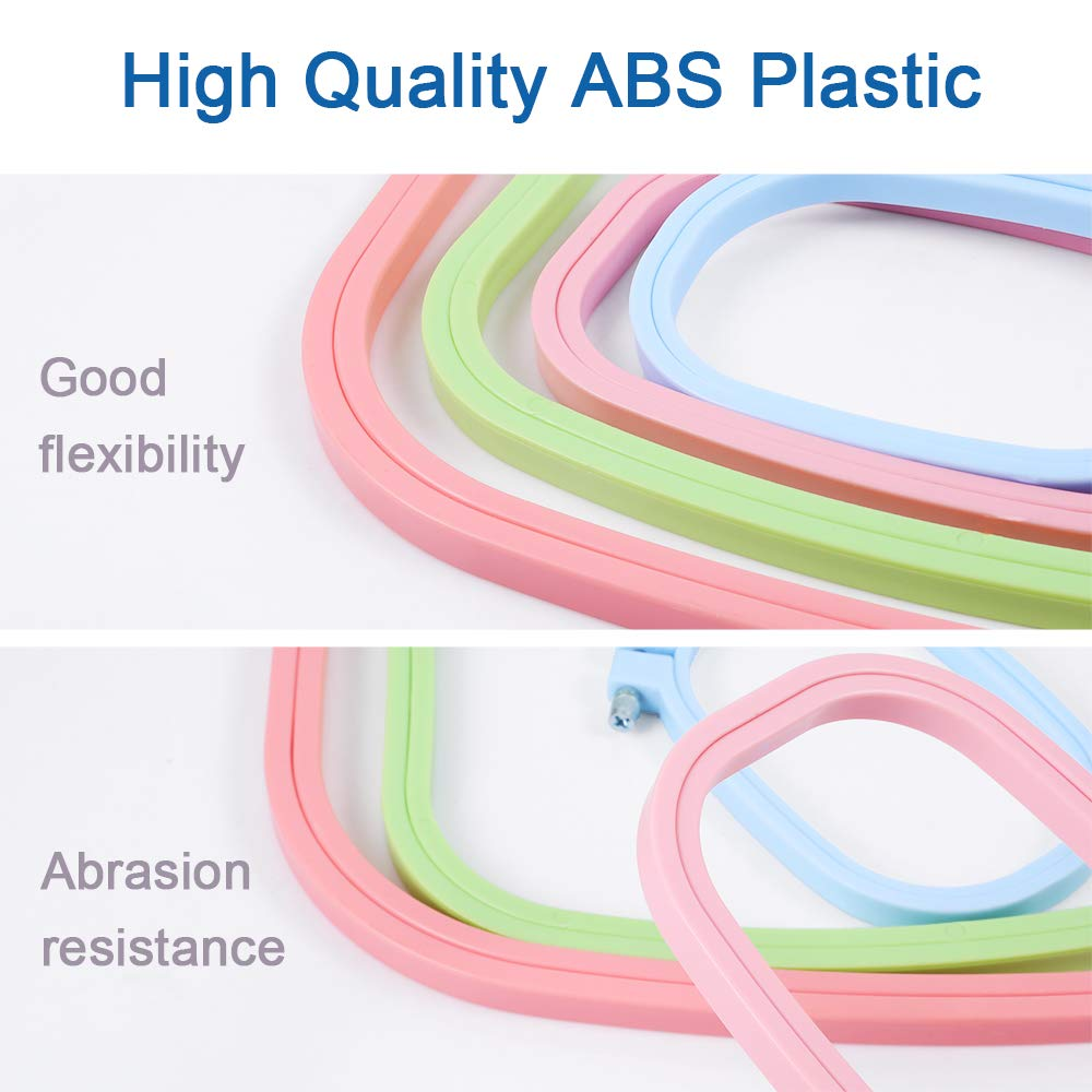 4 Color Caydo 4 Pieces Plastic Embroidery Hoops Square Cross Stitch Hoops Embroidery Set 5 Inch 6 Inch 10 Inch 12 Inch