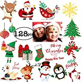 128pcs Christmas Temporary Tattoo for Kids Happy Holiday Merry Christmas Stickers