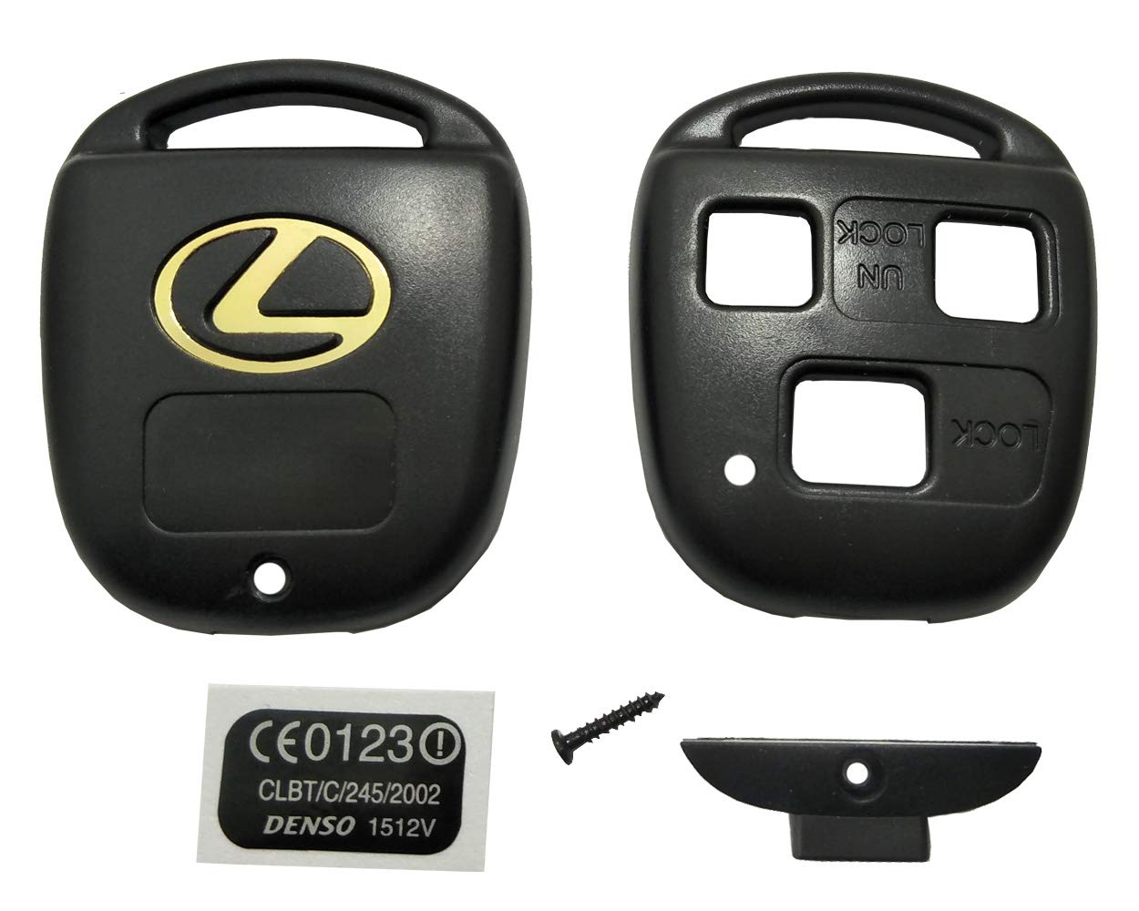 Horande Keyless Entry Remote Control Key Replacement Key Fob Case Shell Fit For Lexus ES GS GX IS LS LX RX SC Key Fob Cover Case Black