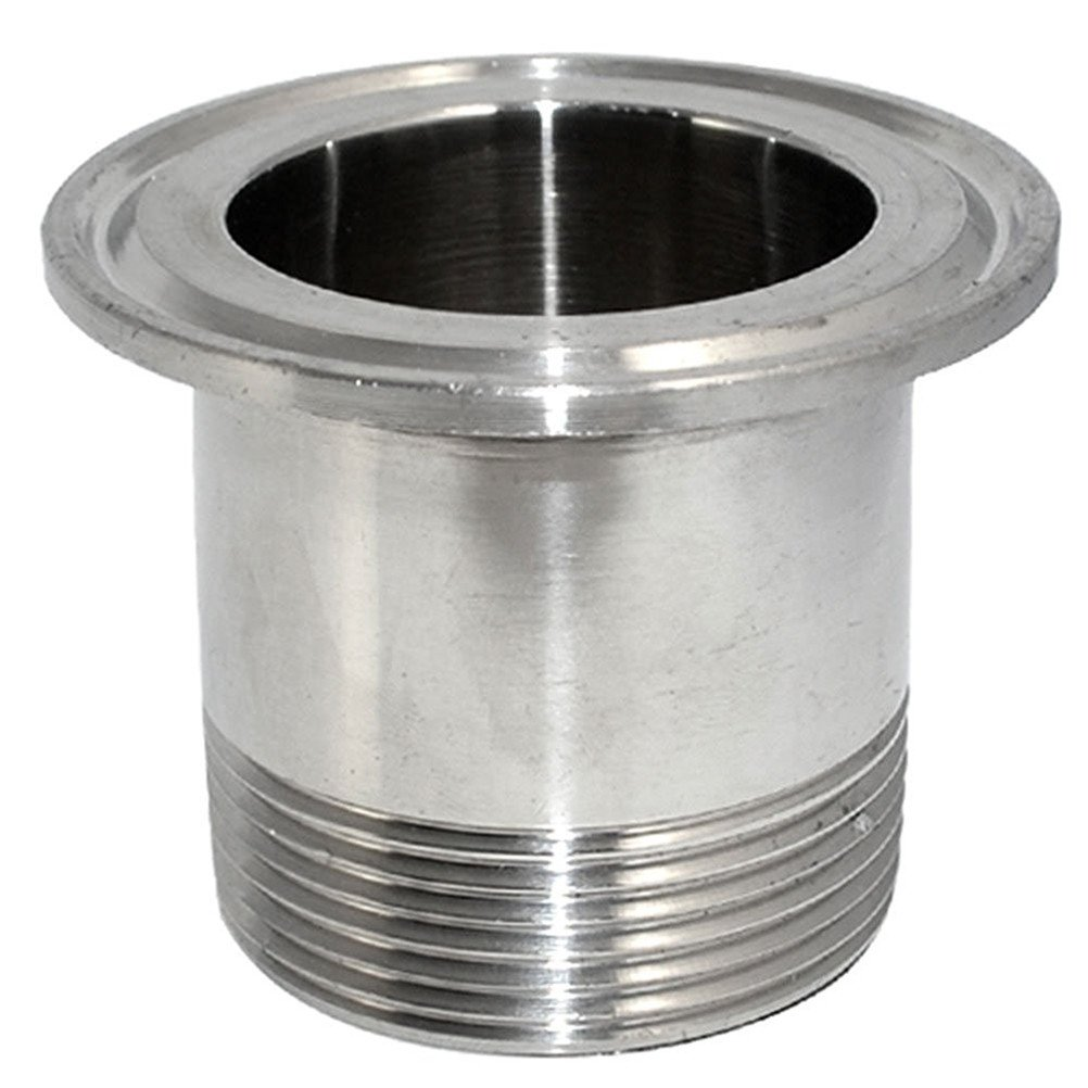 """LOZOME 3/4"""" Sanitary Male Threaded Pipe Fitting for 1.5"""" Tri Clamp OD 50.5mm Ferrule Flange"""