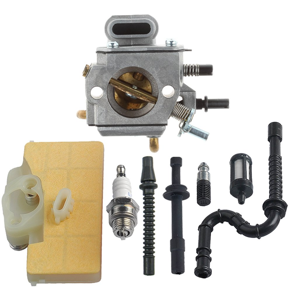 HIPA Carburetor with Air Filter Fuel Line Repower Kit for STIHL MS290 MS310 MS390 029 039 Chainsaw