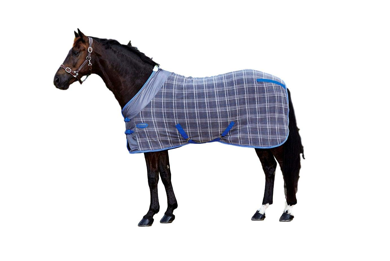 Weatherbeeta Fleece Cooler Standard Neck Turnout Blanket Grey Plaid, 75'' by Weatherbeeta