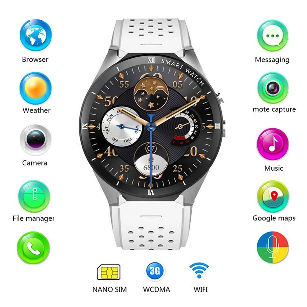 Amazon.com: Tomorrow Sun Shine KW88 Pro 3G Smart Watch GPS ...