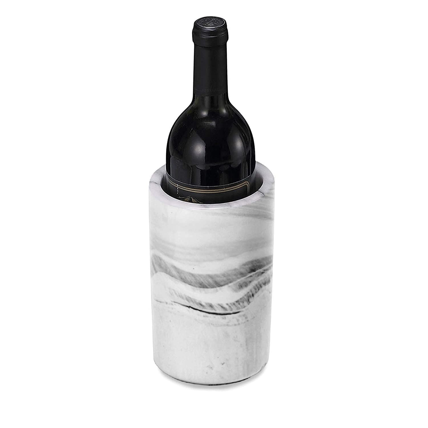 8 Tall Grey Decorative Marble Marbelous Porcelain Wine Bottle Chiller Decorative Marble Wine Cooler Caddy And Champagne Bucket