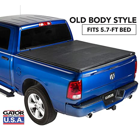 Gator ETX Soft Tri-Fold Truck Bed Tonneau Cover | 59201 | fits Dodge Ram  2009-18, 2019 Classic 1500 (5 ft 7 in bed) - does not fit RamBox