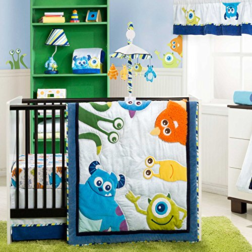 Monsters Inc. 4 Piece Baby Crib Bedding Set by Kidsline (Monsters Inc Crib Bedding compare prices)