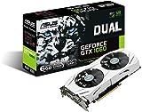 ASUS NVIDIA GeForce DUAL-GTX1060-6G 6 GB GDDR5 Memory 192 Bit 8008 MHz PCI Express 3 Graphics Card - Black