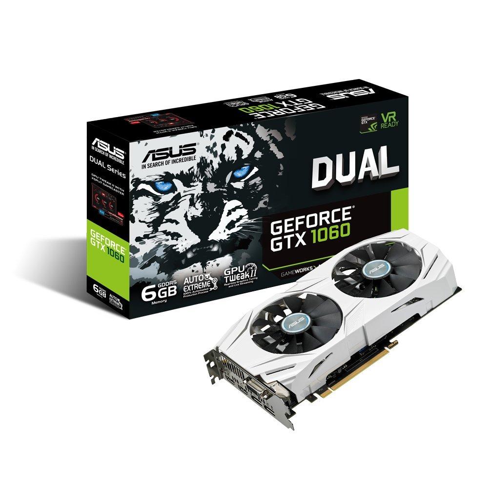Asus Nvidia Geforce Dual Gtx1060 6g 6 Gb Gddr5 Memory 192 Bit 8008 Vga Colorful Gtx 1060 Nb 6gb Mhz Pci Express 3 Graphics Card Black Computers Accessories