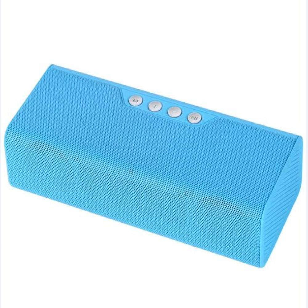 qiyan Altavoz Bluetooth Inalámbrico Altavoces estéreo portátiles Altavoz Caixa De Som Barra de Sonido con Soporte para micrófono TF Tarjeta FM Radio USB en Altavoces portátiles de Color Azul: Amazon.es: Electrónica