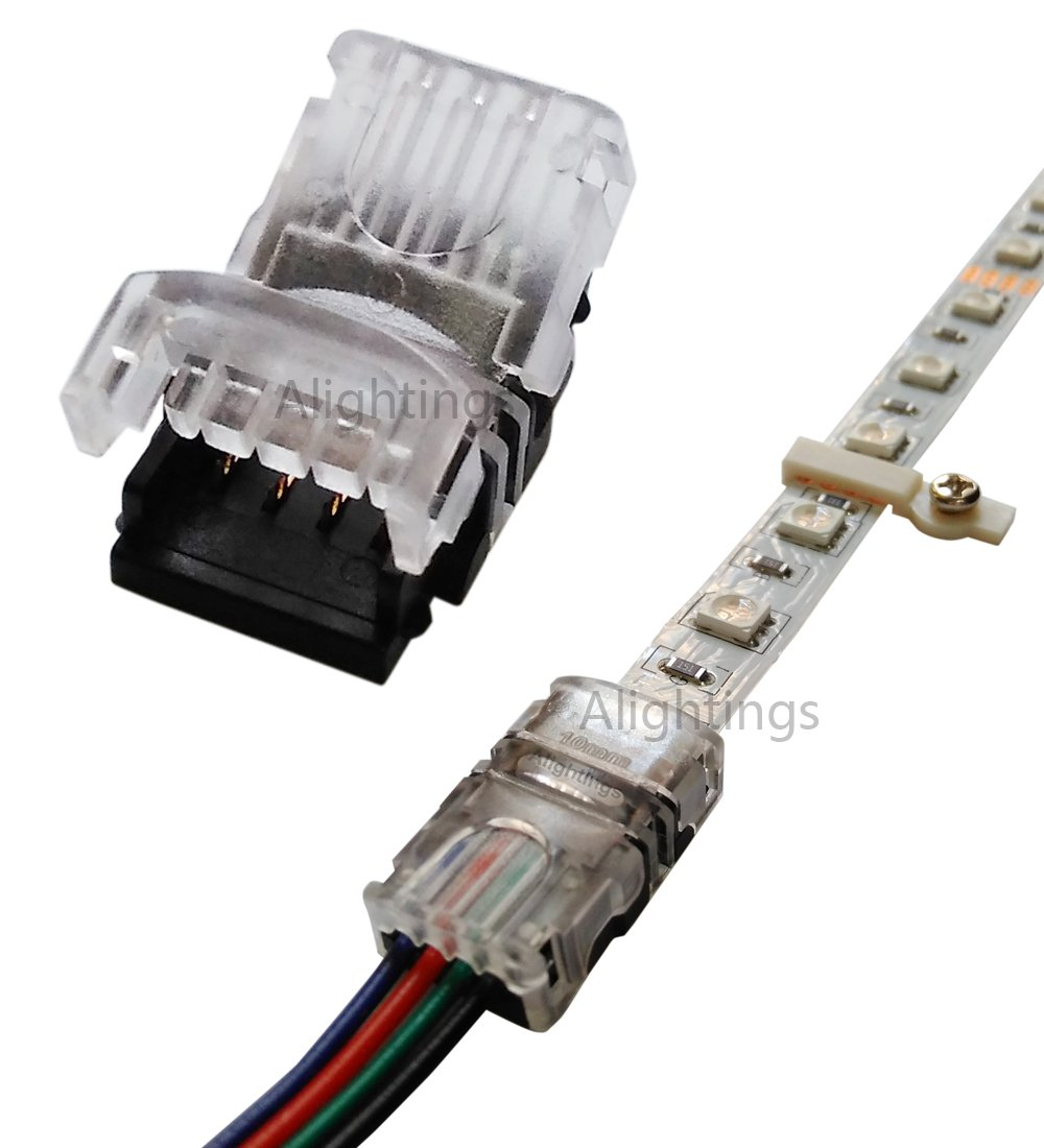Alightings Rgb Led Connector For 4pin 5050 Non Waterproof Strip Wire 4 Pin View Lights To Quick Connection 20 18 Awg No Stripping