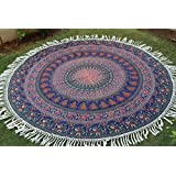 Montreal Tapassier Round Sheet ,round yoga mat, huge round picknic blanke GYPSY Tapestries,home decorhangings ,Round Table cloth ,Just round yoga mat ,picknic blankets,dorm tapestries round camel mandala multi colors