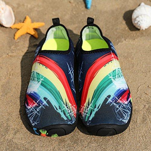 Schwimmschuhe Aquaschuhe im Freien Blau Wasserschuhe Kinder D Herren Damen SITAILE Atmungsaktiv Familienaktivitäten Wassersport für Schuhe nwqY811TB