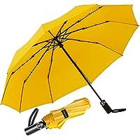 Newdora Paraguas Plegable Automático Impermeable 10 Armazones de Metal Compacto Resistencia contra Viento para Viaje…