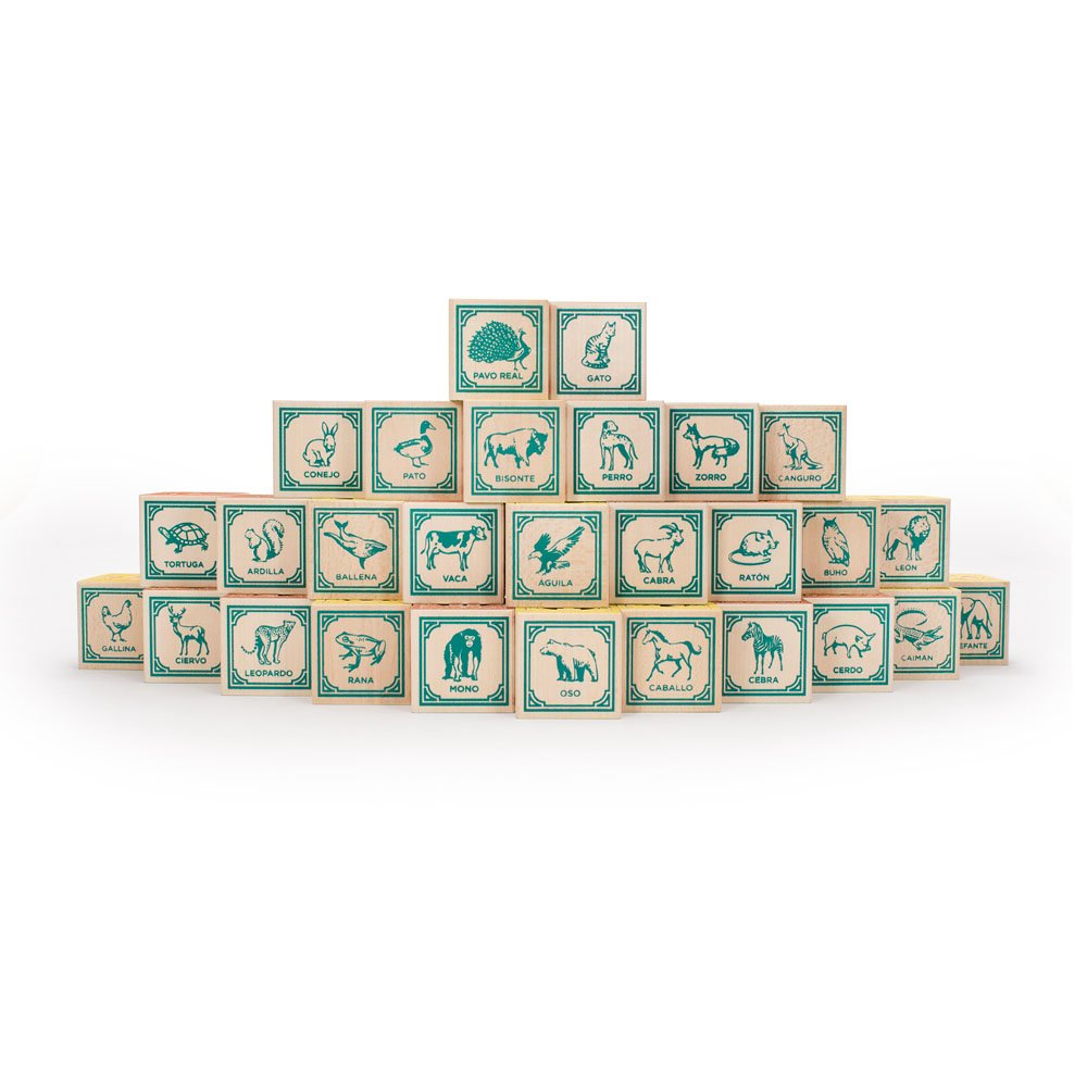 Amazon.com: Uncle Goose Spanish Blocks - Made in USA: Toys & Games