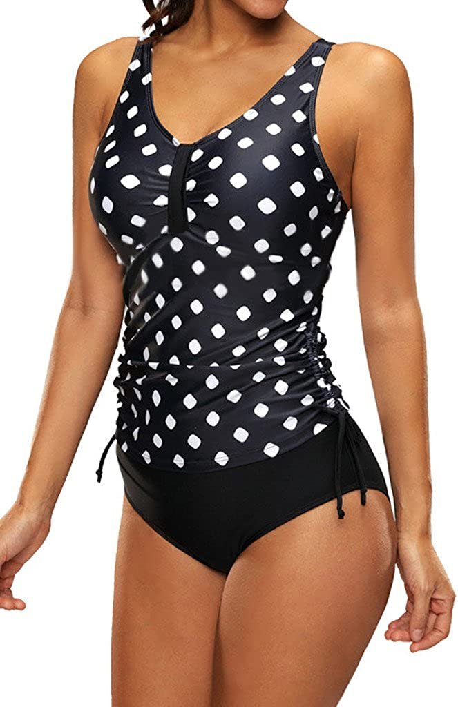Ecute Bademode Damen Tankini mit Hotpant Push Up Badeanzug Gro/ße Gr/ö/ßen Swimsuit
