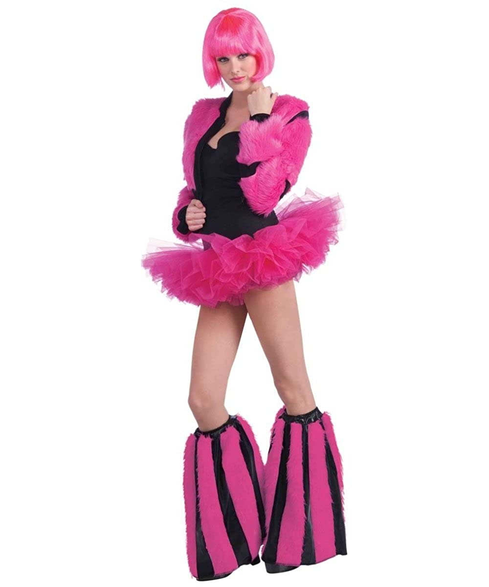 Annie May Pink Furry Leg Warmers Forum Novelties