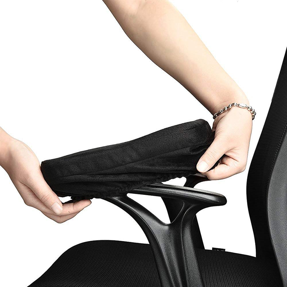 Comfy Gaming Chair Arm Rest Cover for Elbows and Forearms. ORGOR Ergonomic Memory Foam Office Chair Armrest Pads with Hook /& Loop Tape Black, S with Hook /& Loop Tape Chair Arm Pillow 1 Pair