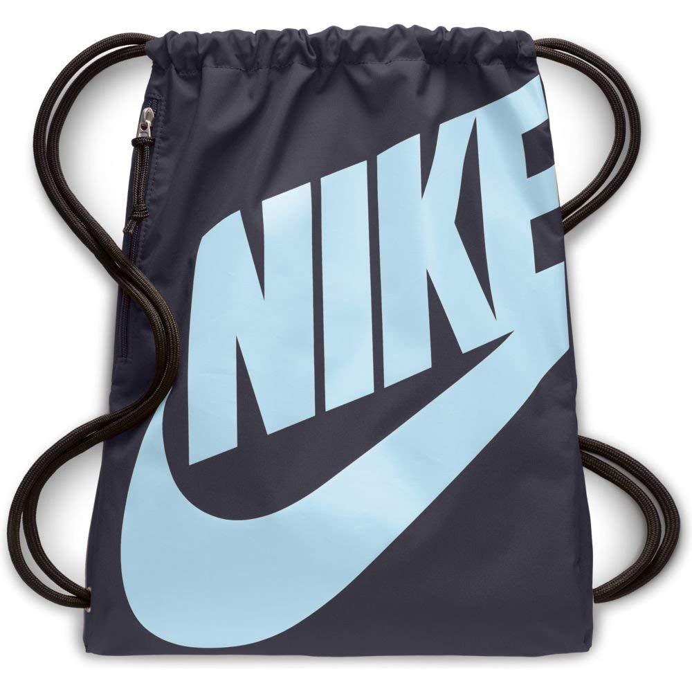 Extraer montón en términos de  BA5351 Nike Heritage Gym Sack Gridiron/Gridiron/Cobalt Tint, One Size