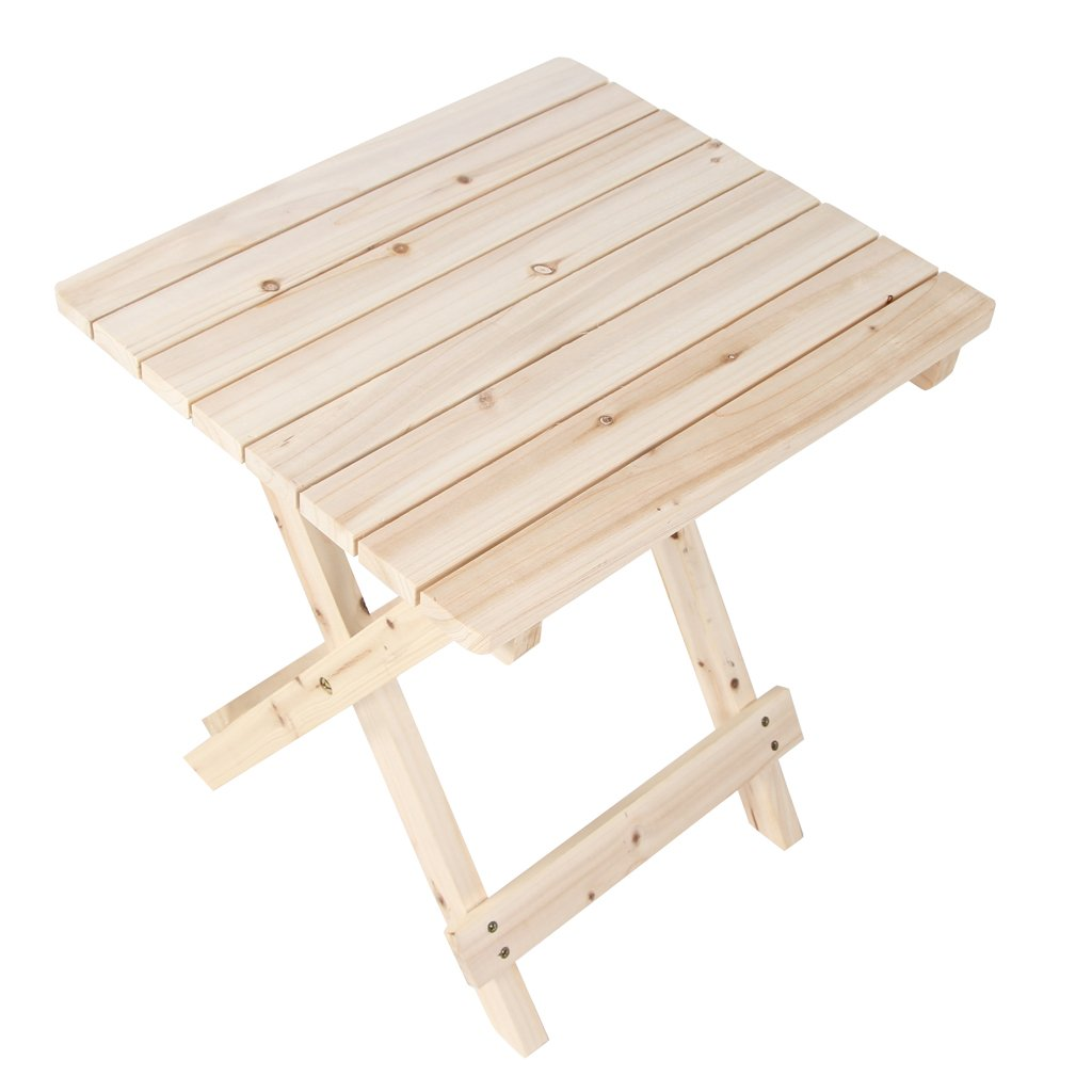 VH FURNITURE Wooden Side Table Rustic Patio Small Desk For Indoor And Outdoor 16.93''*14.96''*18.50''