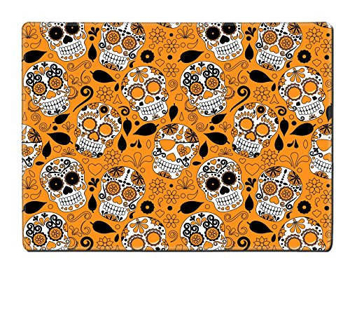 Images Of Day Of The Dead Costumes (Luxlady Natural Rubber Placemat IMAGE ID: 36626647 Day of the Dead Sugar Skull Seamless Vector Background)