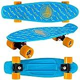 Flybar 22' Plastic Grip Tape Cruiser Skateboard Complete (Logo Blue)