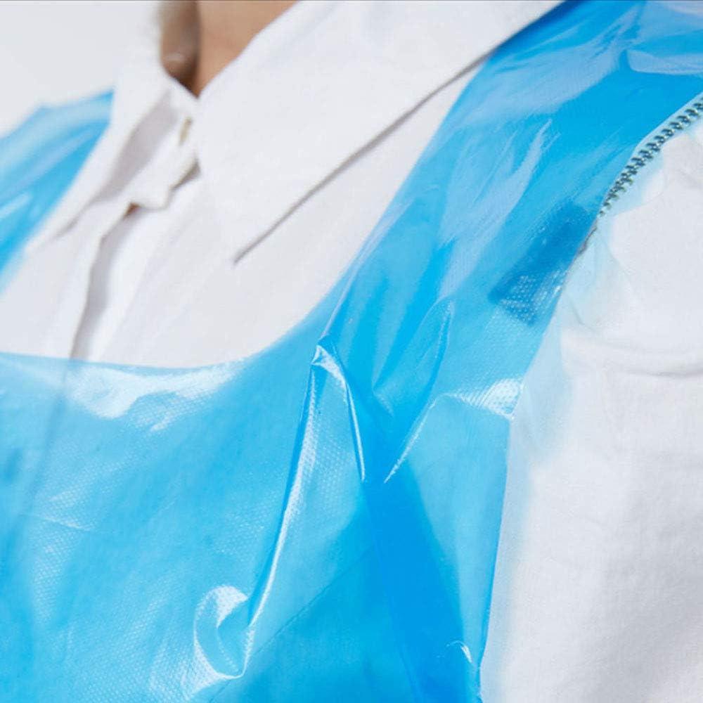 Delantales Desechables Delantales Impermeables de Polietileno para cocinar MZY1188 Delantales Desechables Azul Blanco Hornear y Usar en el Cuidado Personal