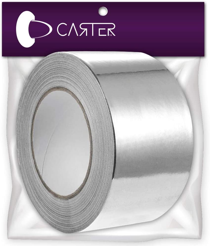 Carter Professional Aluminum Foil Tape 3 inch x 150 feet – for HVAC, Hot and Cold Air Ducts, Insulation and More (1 Pack)