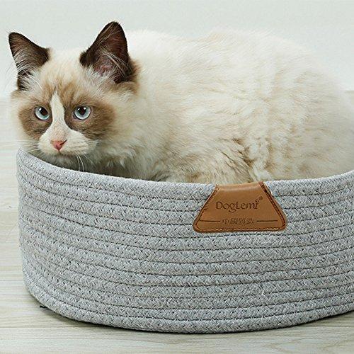 Sofá cama para perro/gato de mascotas, funciona en invierno y en verano, resistente a los arañazos, hecha de hilo de algodón Pur y de punto: Amazon.es: ...