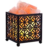 CREATIVE DESIGN Salt Lamp, Natural Himalayan Salt Lamp with Metal Basket for Air Purifying, Included UL Cord, Dimmable Switch and Bulbs. (5''Height, 4 – 4.8 lbs)