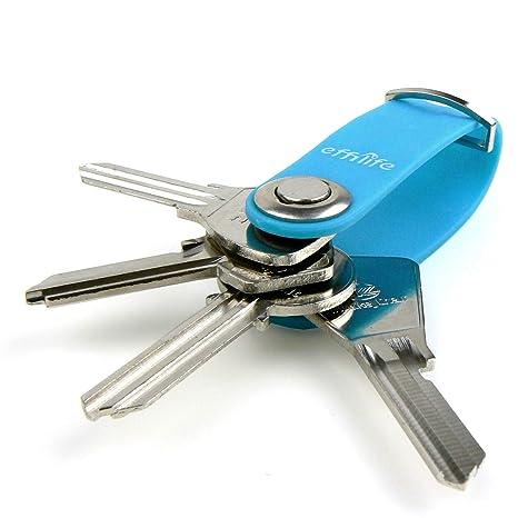 Effilife Llaveros original / Organizador de llaves, Útil e Inteligente, Azul.