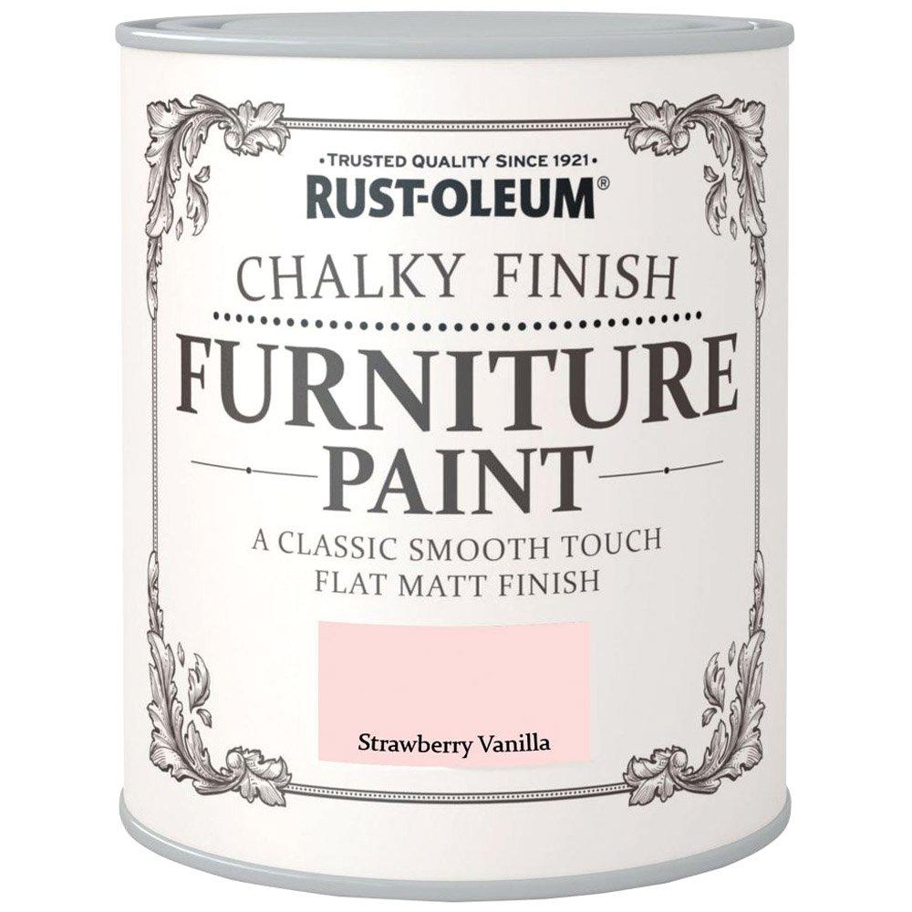 Rust-Oleum Chalky Finish Furniture Paint Strawberry Vanilla Matt 750ml