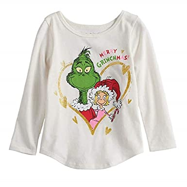 0384af5e971 Dr. Seuss The Grinch   Cindy Lou Who Merry Grinchmas Glitter Graphic Tee (6