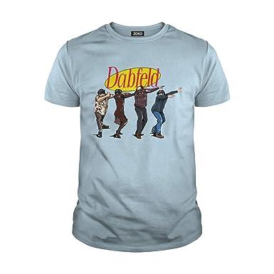8528eb74 Zoko Apparel Men's Dabfeld Dabbing Kramer George Jerry Seinfeld T-Shirt (S,  Light