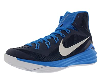 b6a8c87ddf05 NIKE Mens Hyperdunk 2014 TB Basketball Shoe Midnight Navy Photo Blue White Metallic  Silver Size 15 M US  Amazon.co.uk  Shoes   Bags