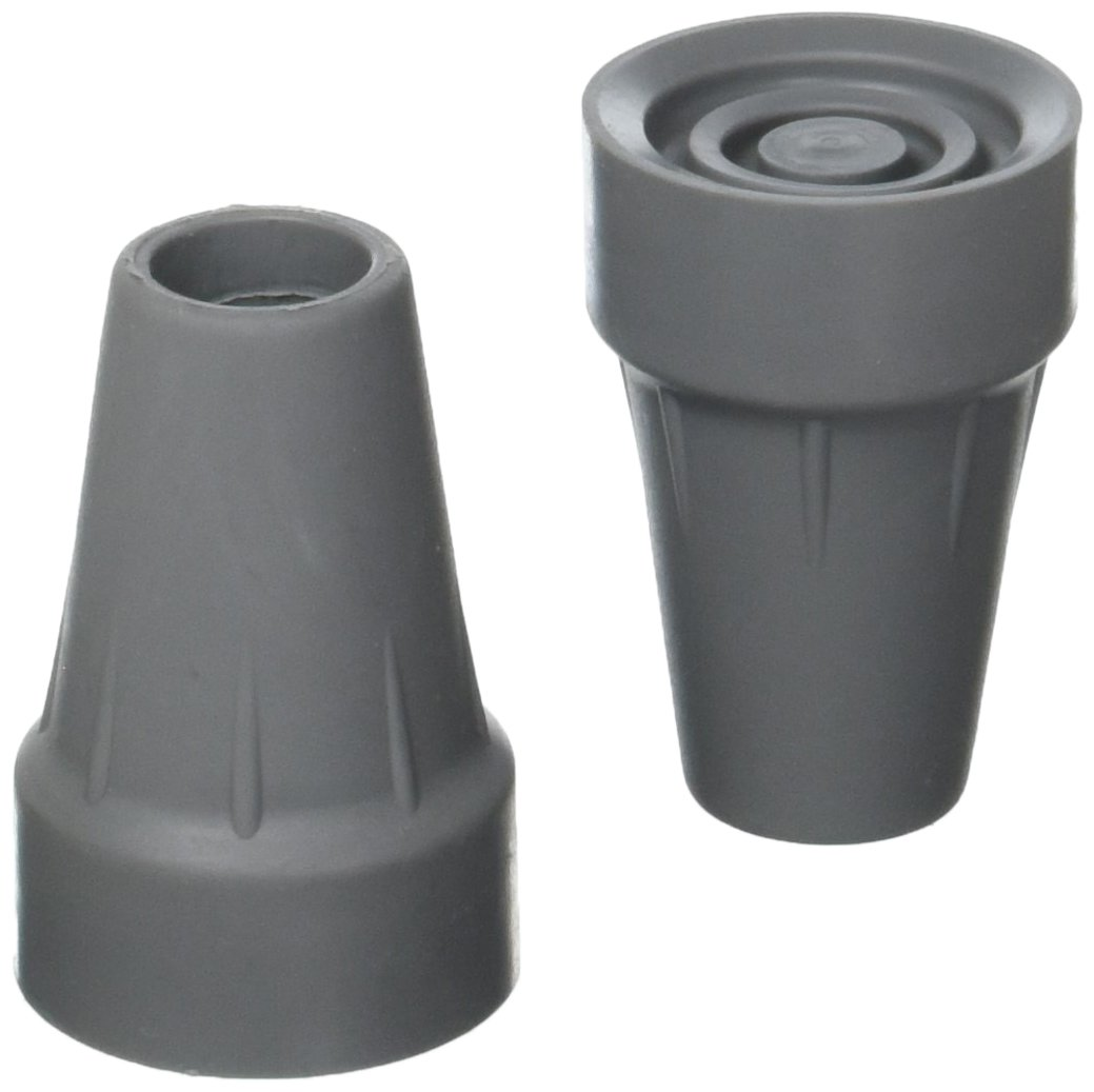Medline G00842 Guardian Super Crutch Tip, Gray, 7/8 Inch