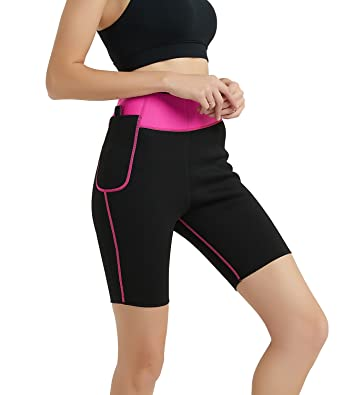 c9192c8e431 Women Slimming Shorts Pants Hot Sweat Neoprene Sauna Capris Leggings  Increase Body Temperature Fat Burner for