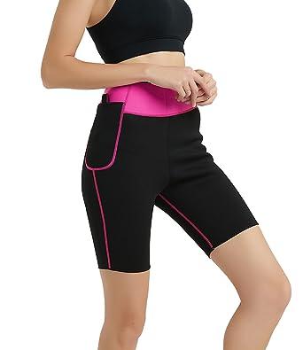 f534b2862fe Women Slimming Shorts Pants Hot Sweat Neoprene Sauna Capris Leggings Increase  Body Temperature Fat Burner for