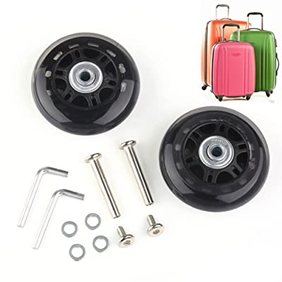 Abbott OD. 76 mm Wide 22 mm Axle 40 mm Luggage Suitcase/Inline Outdoor Skate Replacement Wheels with ABEC 608zz Bearings : Sports & Outdoors
