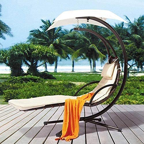 REWD Rocking Chair Sunlight Outdoor Moon Hanging Chair Wrought Iron Swing Rocking Chair Bed Comfortable Lounge Chair