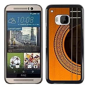 Be Good Phone Accessory // Dura Cáscara cubierta Protectora Caso Carcasa Funda de Protección para HTC One M9 // Guitar Classical Strings Instrument Music