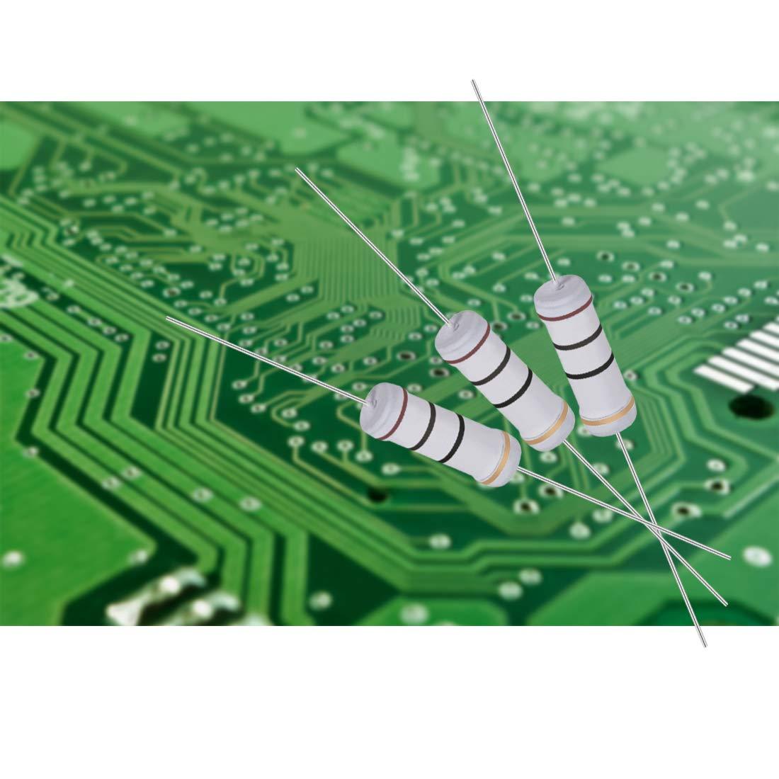 sourcing map 40pz 3W 3 Watt ossido metallo resistore a pellicola filo assiale 33 Ohm /± 5/% tolleranza
