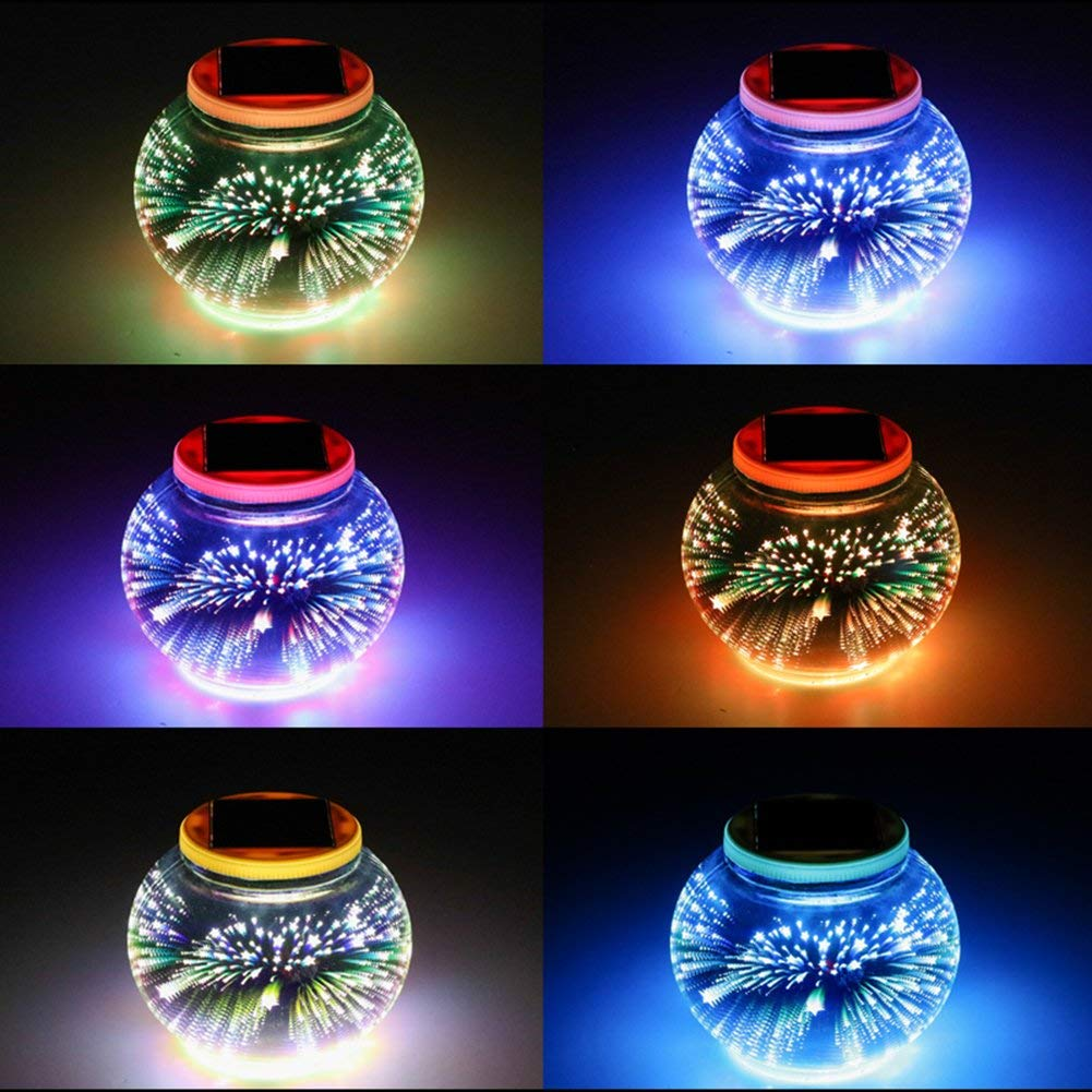 Solar Mosaic Glass Ball Garden Lights,KINGCOO Waterproof Color Changing Mood Night Lights Solar Outdoor Table Lamp for Bedroom Party Garden Patio Yard Decoration Lighting Silver-1
