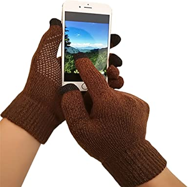iEverest Unisex Guantes para pantalla táctil Guantes antideslizante Guantes de amante gruesos smartphone guantes para pantalla táctil para Hombre / Mujer(Marrón): Amazon.es: Ropa y accesorios
